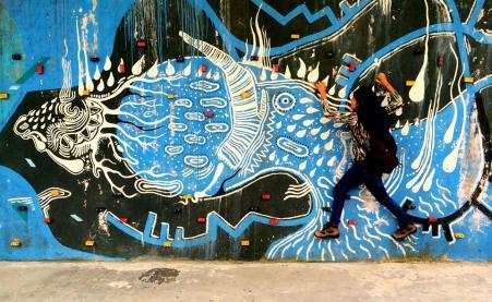Mural @ Museo de agua yaku, uio