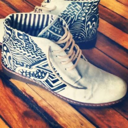 Zapatos pintados a mano. (A pedido)